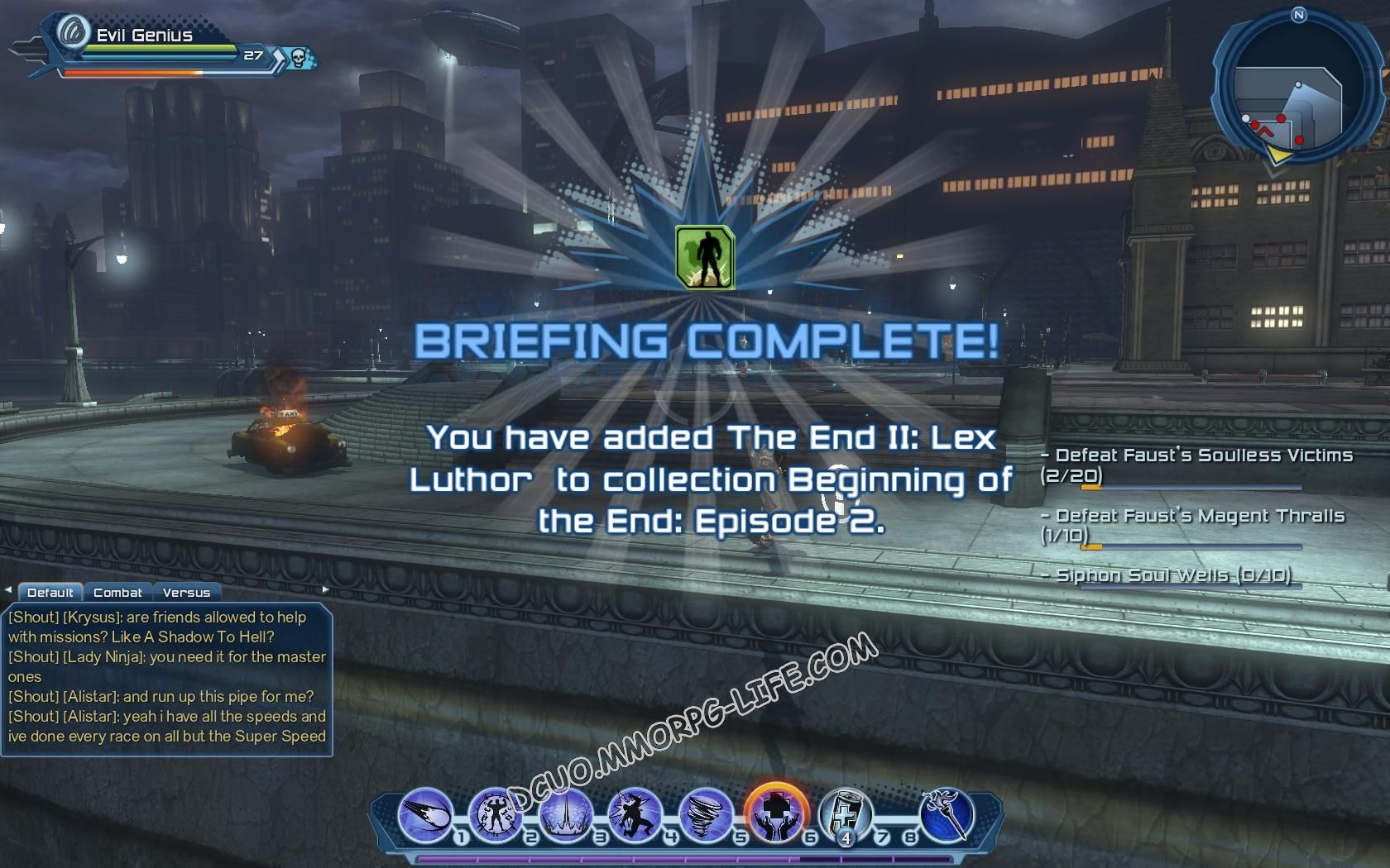 Briefing: Beginning of the End: Episode 2, step 8 The End II: Lex Luthor  image 1184 middle size