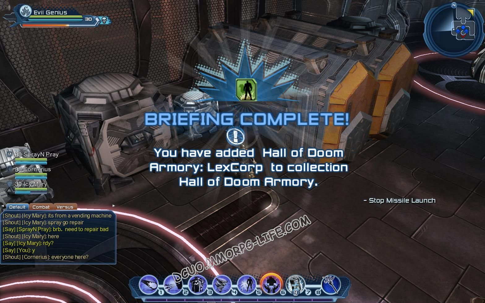 Briefing: Hall of Doom Armory, step 4 Hall of Doom Armory: LexCorp  image 1960 middle size