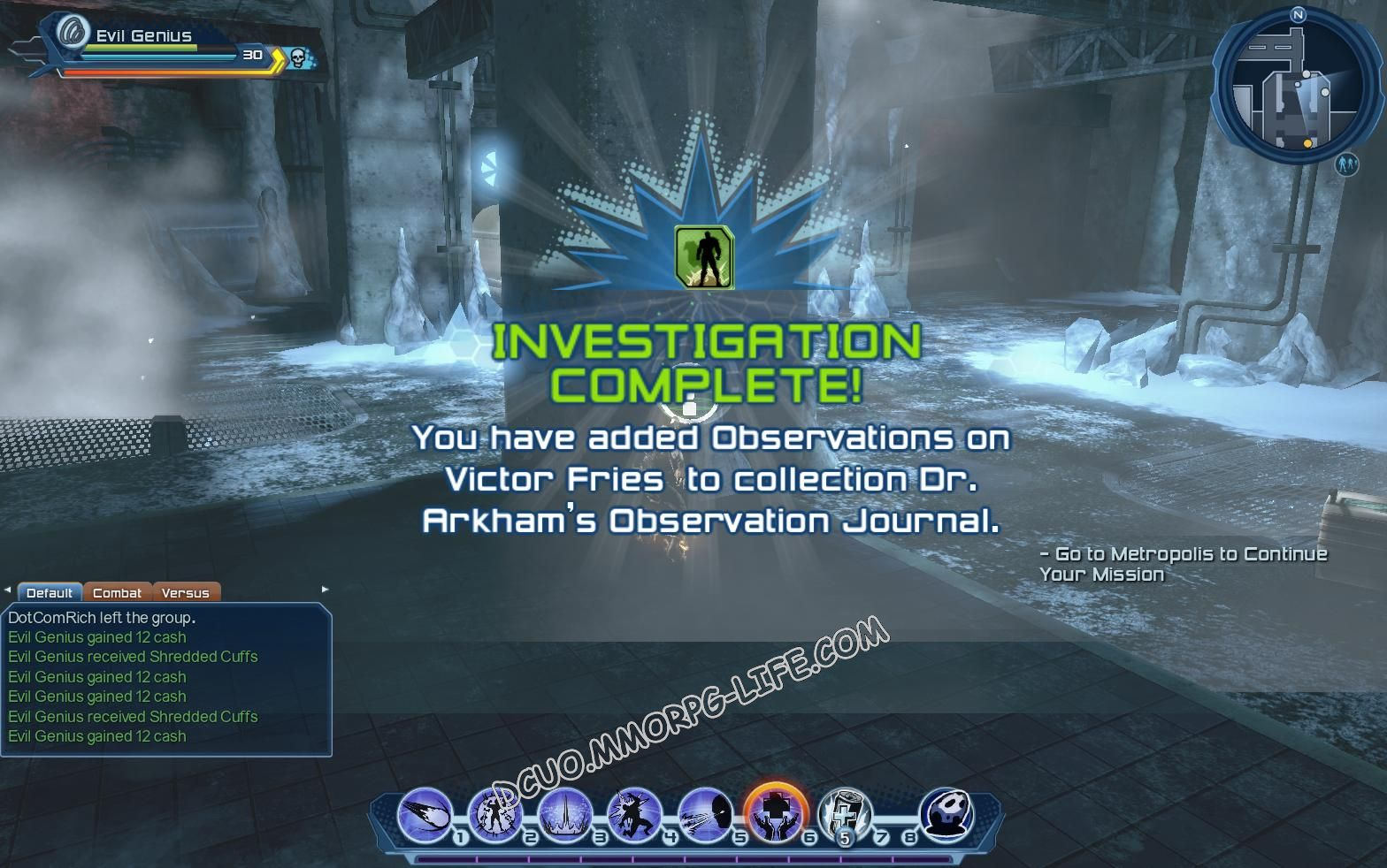 Investigation: Dr. Arkham's Observation Journal, step 6 Observations on Victor Fries  image 1998 middle size