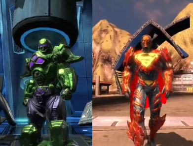 New DCUO Video: Iconic Battle Suits Superman & Luthor
