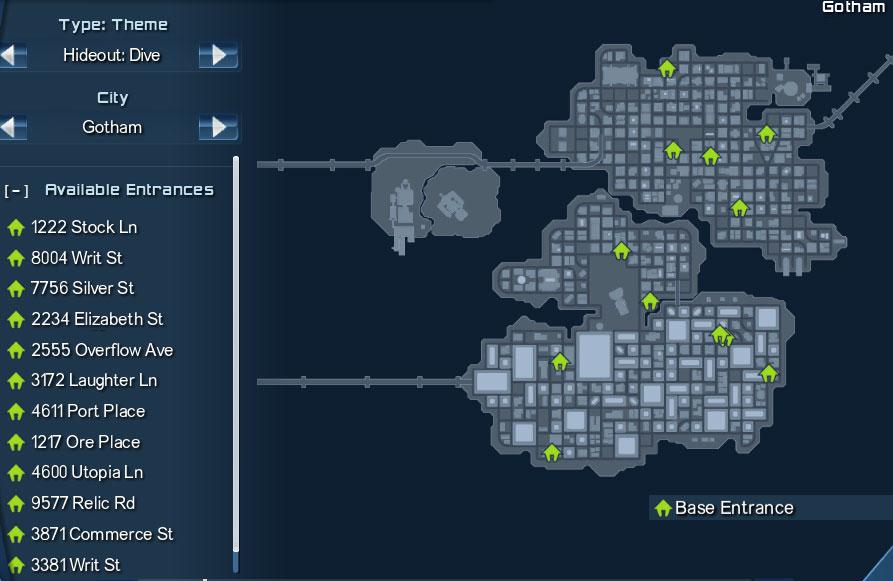 Dive Theme Gotham Locations